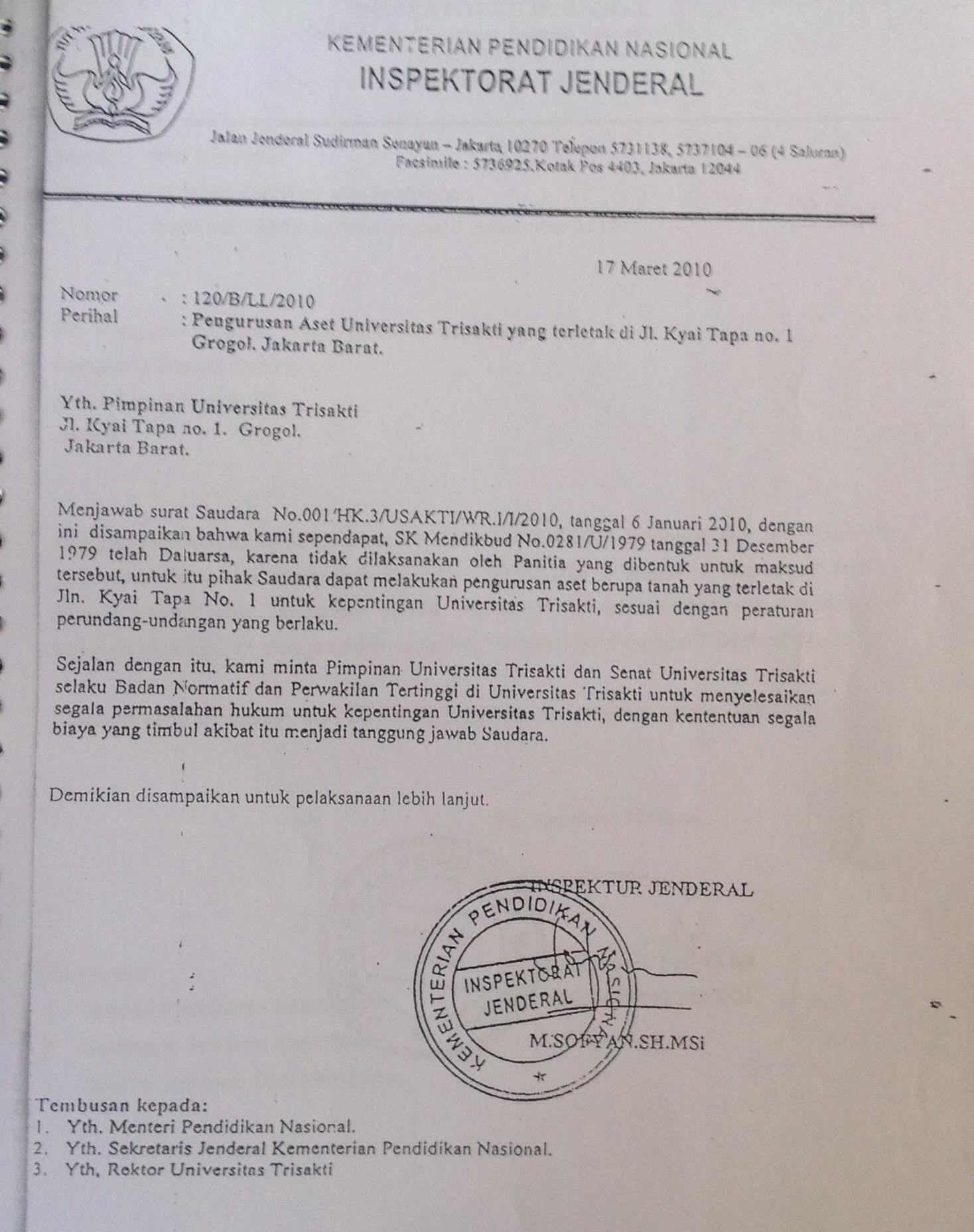 Cs selaku kuasa hukum Thoby Mutis menggunakan Surat Palsu yakni Surat ...